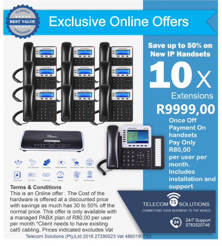 10 Extension VoIP PABX