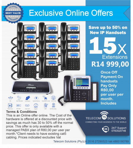 15 Extension VoiP PABX