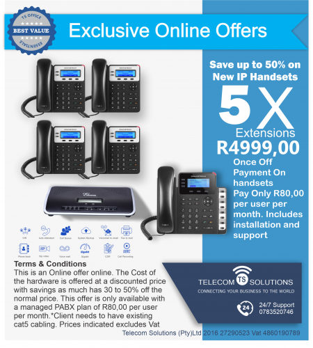 5 Extension VoIP Phone System